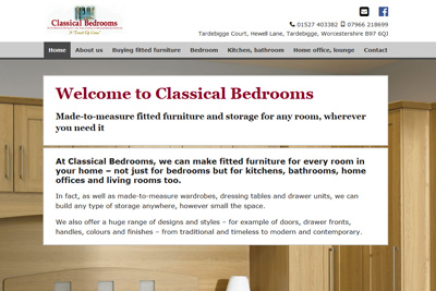 Link to Classical Bedrooms website