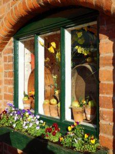 Window display at Tardebigge Court