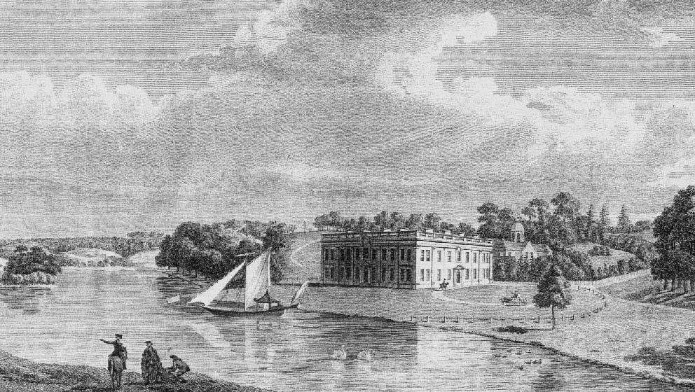 Hewell Grange in 1730