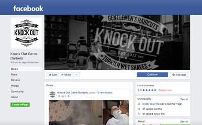 Link to Knock Out Turkish Barbers Facebook page