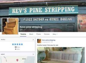 Link to Kevs Pinestripping Facebook page