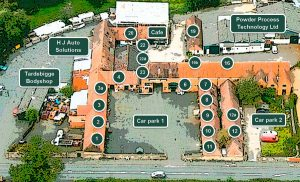 Tardebigge Court unit locations and numbers
