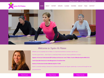 Link to Taylor-Fit Pilates website