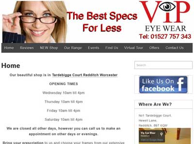 Link to VIP Eyewear website